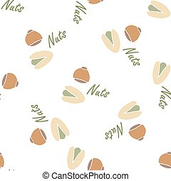 Nuts collection tileable texture ve