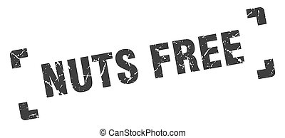nuts free stamp. square grunge sign isolated on white background