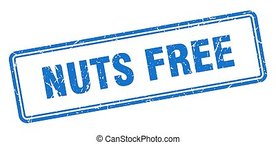 nuts free stamp. square grunge sign on white background