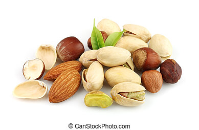 Nuts mix close up