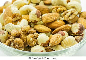 Nuts mixed closeup