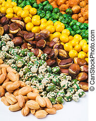 Nuts Mixed on background