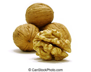 Nuts - Nut interior closeup