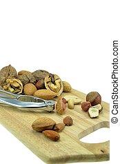Nuts on a board