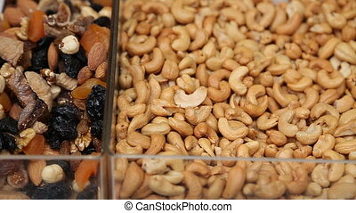 nuts on a oriental bazaar in Istanbul, Turkey