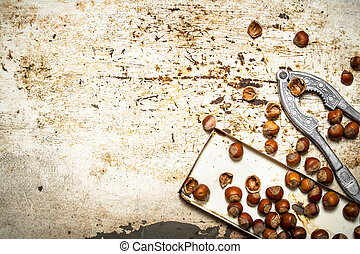 Nuts on the old tray.