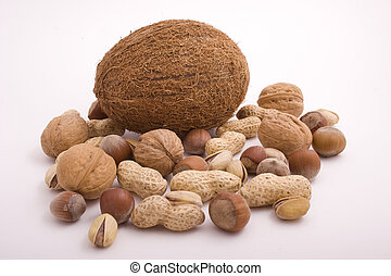 Nuts on white