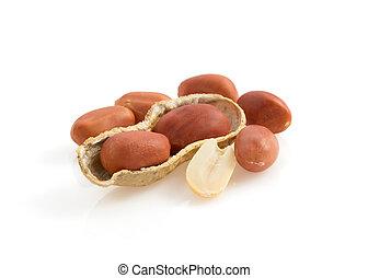 nuts peanuts on white