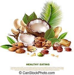 Nuts Realistic Illustration