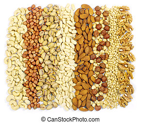 nuts  - mixed nuts on a background