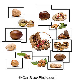 Nuts with frames.
