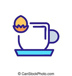 nutty drink icon vector. nutty drink sign. color symbol illustration