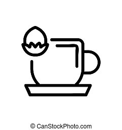 nutty drink icon vector. nutty drink sign. isolated contour symbol illustration