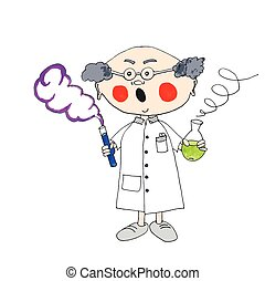 Nutty professor - Professor scares from liquid experiment