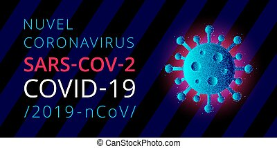 Nuvel coronavirus, sars-cov-2, covid-19, 2019-ncov. Informative poster