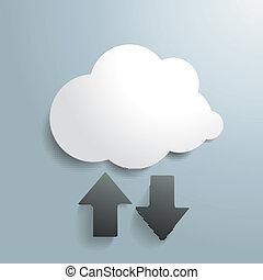 nuvem branca, upload, download