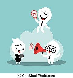 nuvem, computando, conceito, ilustração negócio