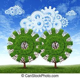 nuvem, computando, crescimento