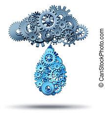 nuvem, computando, distribuição