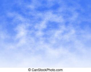 nuvem, e, névoa