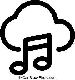 nuvem, música