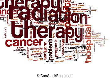 nuvem, palavra, terapia radiação