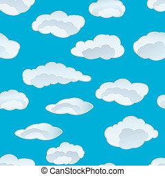 nuvem, seamless, fundo