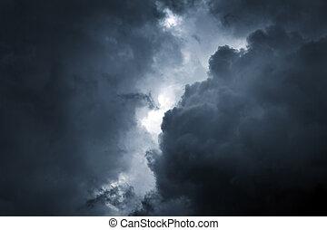nuvem tempestade, fundo