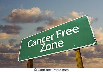nuvens, câncer, zona, livre, sinal, verde, estrada
