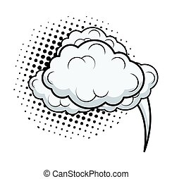 nuvens, cômico, bolha, retro, conversa