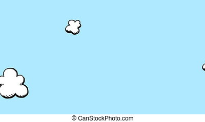 nuvens, caricatura