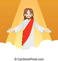 nuvens, christ, jesus