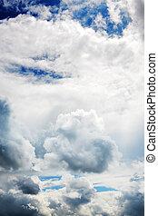 nuvens, coberto, céu