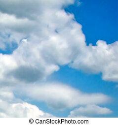 nuvens, com, azul, sky., vetorial