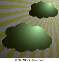 nuvens, com, lua, raidal, raios
