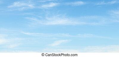 nuvens, em, a, céu azul