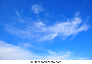 nuvens, em, a, céu