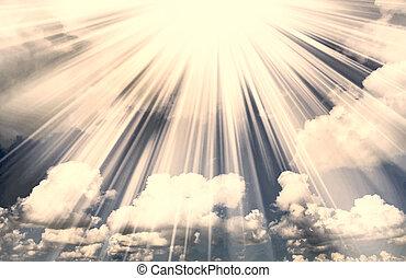 nuvens, espiritual, céu