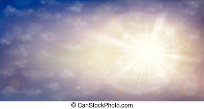 nuvens, estouro, sol, céu, experiência., pôr do sol, tempo, crepúsculo