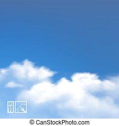 nuvens, ilustração, eps10, editable., céu, experiência., vetorial