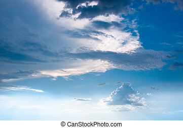 nuvens, ligado, a, céu