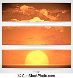 nuvens, pôr do sol, amanhecer