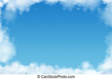 nuvens, quadro, com, espaço cópia