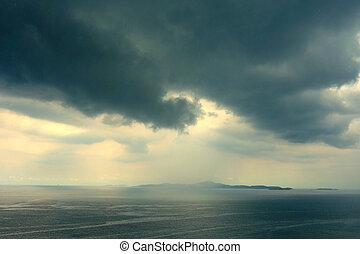 nuvens, thunderstorm