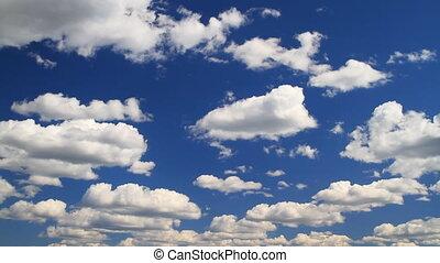 nuvens, timelapse, céu