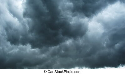 nuvens timelapse, chuva