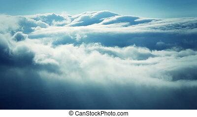 nuvens timelapse, tempestade