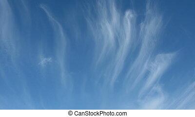 nuvens, tiras, céu