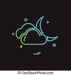nuvens, vetorial, desenho, ícone