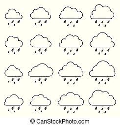 nuvola, bianco, tempesta, fondo, pioggia